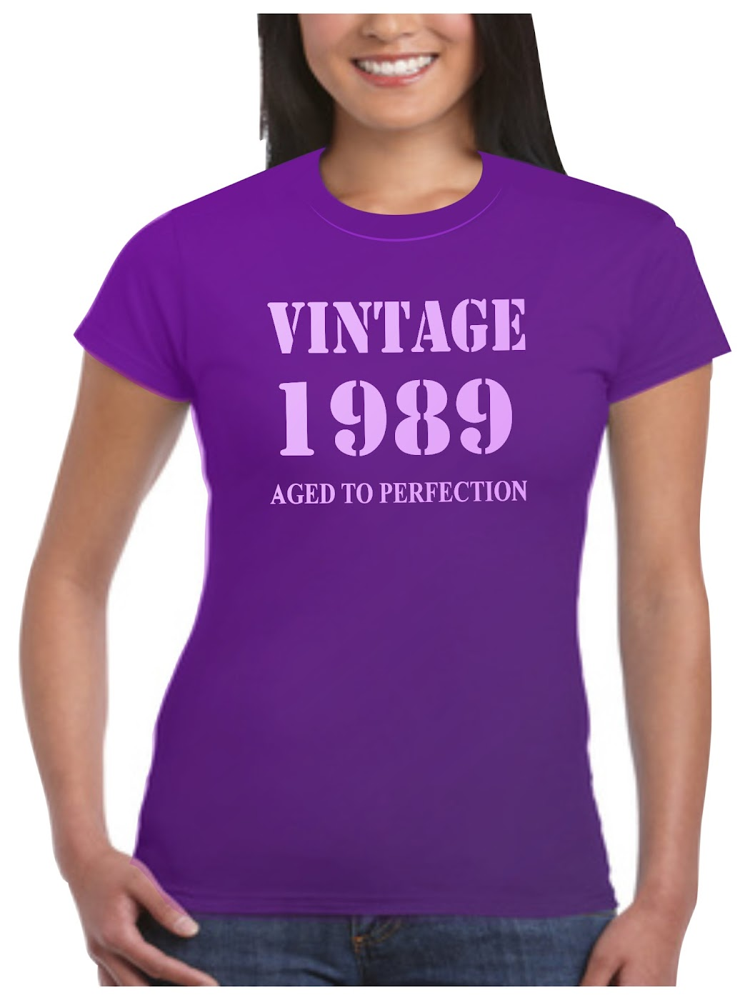 1989 T Shirt Birthday Present Vintage Born Age Womans Ladies 17 Sizes Available