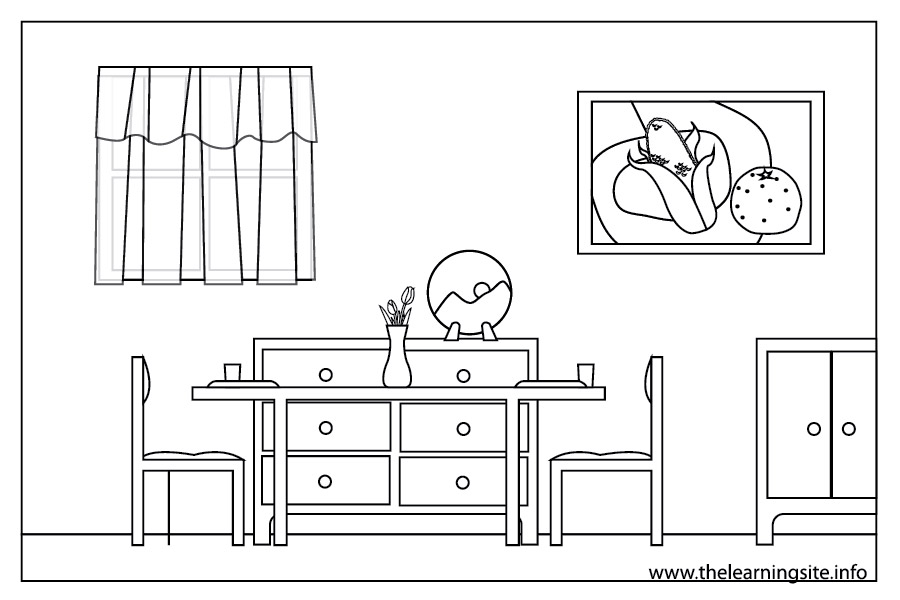 Coloring pages of a house best coloring pages collections for Parts of the living room