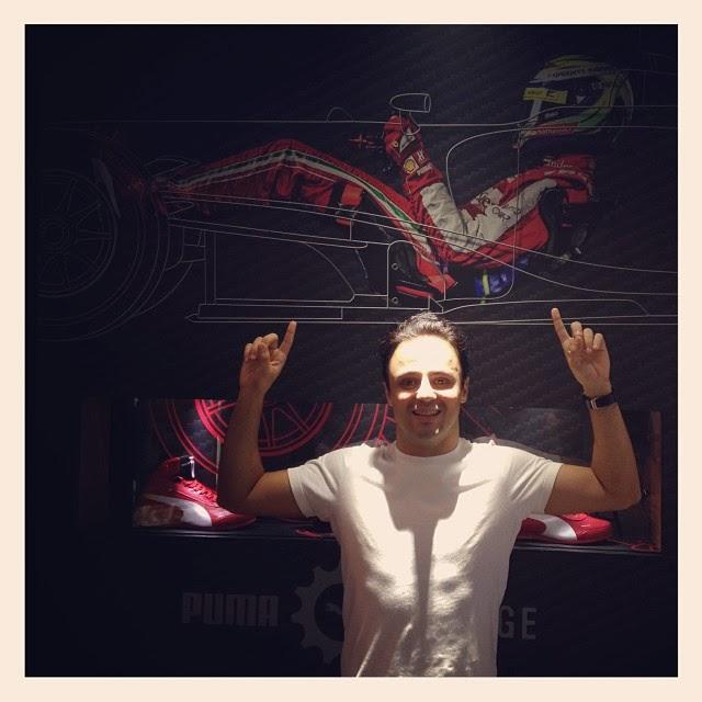 Фелипе Масса в магазине Puma в Токио 8 октября 2013