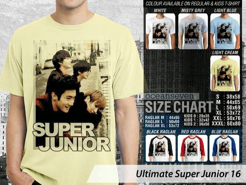 Kaos K Pop SUJU Ultimate Super Junior 16 Boy Band Asal Korea distro ocean seven