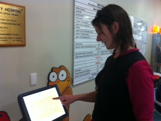touch screen volunteer