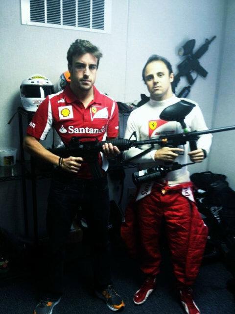 Фернандо Алонсо и Фелипе Масса во всеоружии на Гран-при США 2012