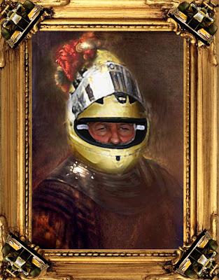 картина барона Михаэля Шумахера в золотом шлеме на Гран-при Бельгии 2011 via @wwwendoplast_de