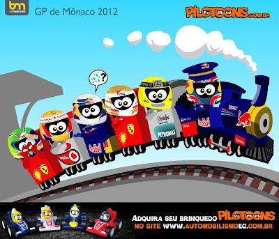 pilotoons паровозик Монте-Карло Гран-при Монако 2012
