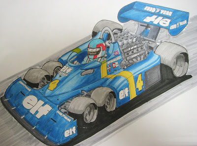 Патрик Депайе Tyrrell P34 - рисунок mamibou