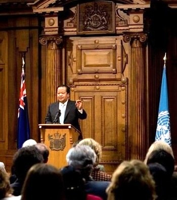 Prem Rawat Maharaji en Parliament of New Zealand