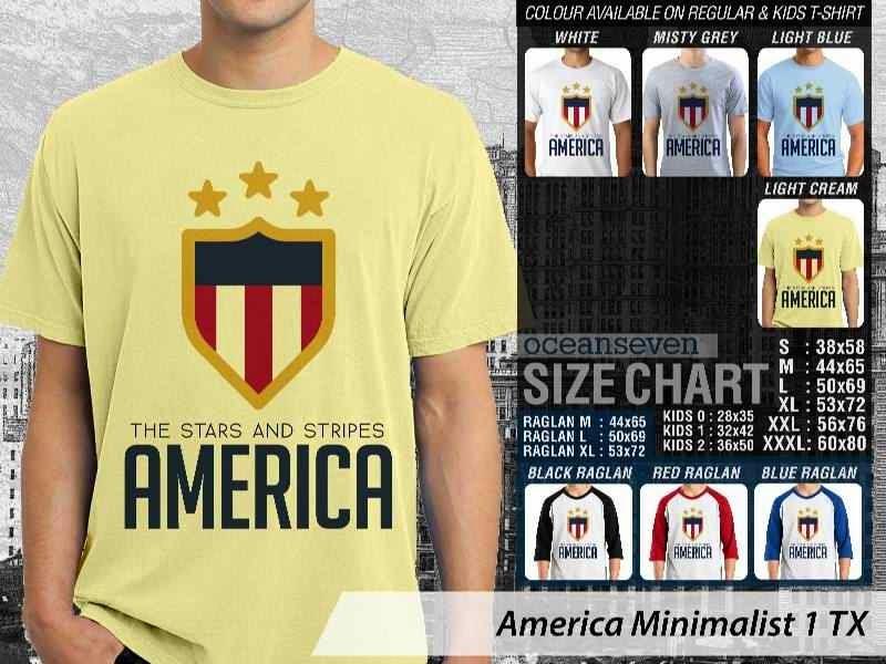 Jual Kaos Piala Dunia World Cup America Minimalist 1 The Stars and Stripes America distro ocean seven