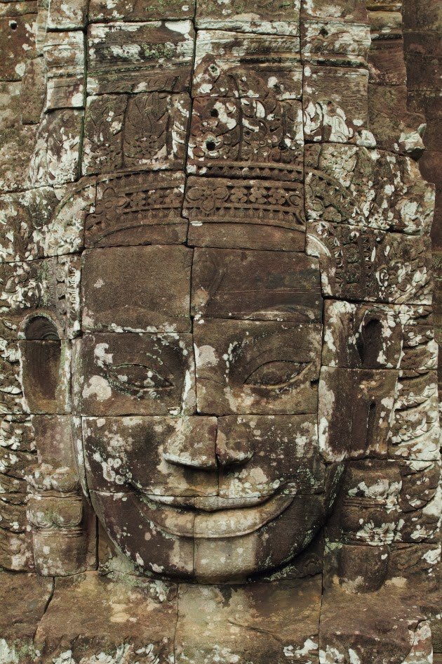 A smiling face at Bayon Temple, Siem Reap, Cambodia