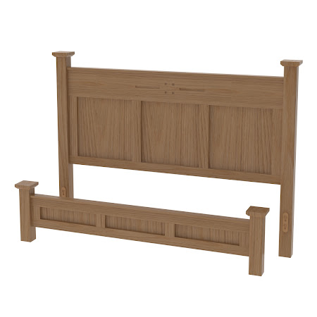 Florence Platform Bed in Natural Oak