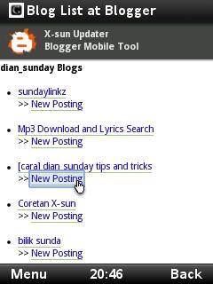 Cara posting blog via Handphone + label