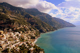 A Village Hugs The Coastline - Amalfi Coast, Italy