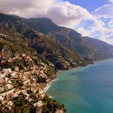 A Village Hugs The Coastline - Amalfi Coast, Italy