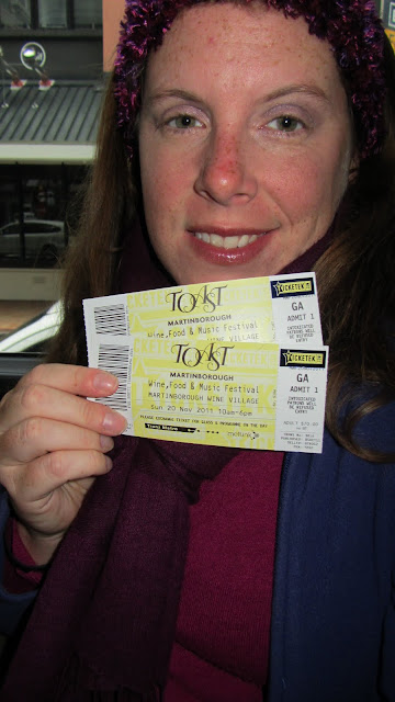 Success! Tickets in hand for Toast Martinborough.