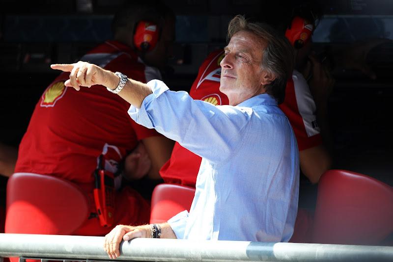 Лука ди Монтедземоло на капитанском мостике Ferrari на Гран-при Италии 2013