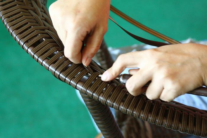 Плетение искусственного ротанга своими руками