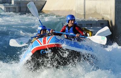 Марк Уэббер в водном центре Лондона Lee Valley White Water 14 сентября 2011