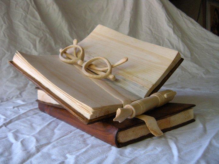 Книги поделки из дерева