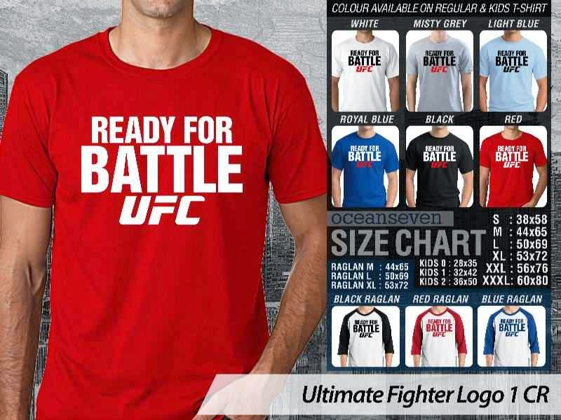 Kaos UFC Ultimate Fighter Ready For Battle UFC Logo 1 distro