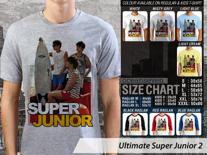 Kaos K Pop SUJU Ultimate Super Junior 2 Boy Band Asal Korea distro ocean seven