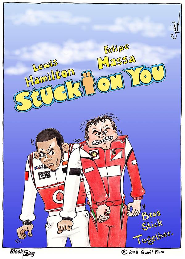 Льюис Хэмилтон и Фелипе Масса Stuck on You - комикс Black Flag