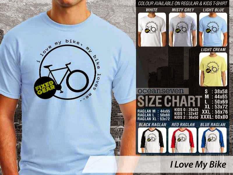 KAOS I Love My Bike Untuk Sepeda Biker Mania distro ocean seven