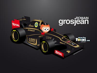 Ромэн Грожан Lotus E20 2012 Grand Prix Toons