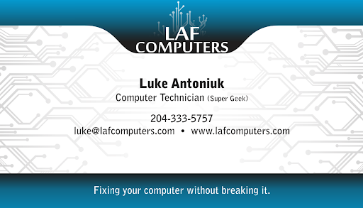 LAF Computers, 755 Henderson Hwy, Winnipeg, MB R2K 2K5, Canada, Computer Consultant, state Manitoba
