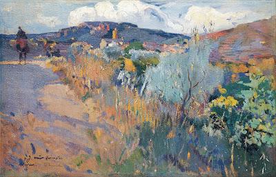 Joaquim Mir - View of L'Aleixar (c. 1915-1919)