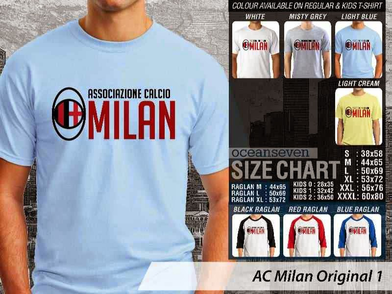 KAOS AC Milan 1 Logo Klub Bola distro ocean seven