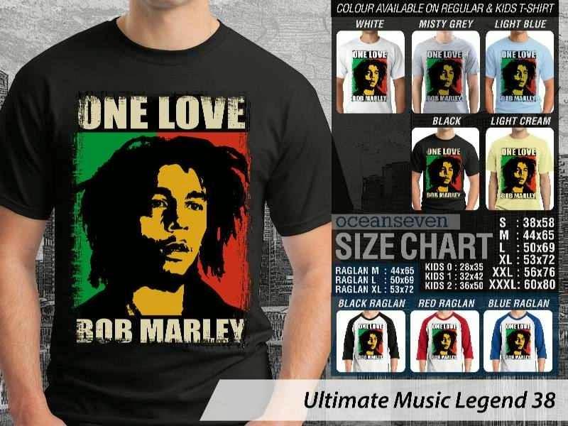Kaos Bob Marley Legenda Musik 38 distro ocean seven