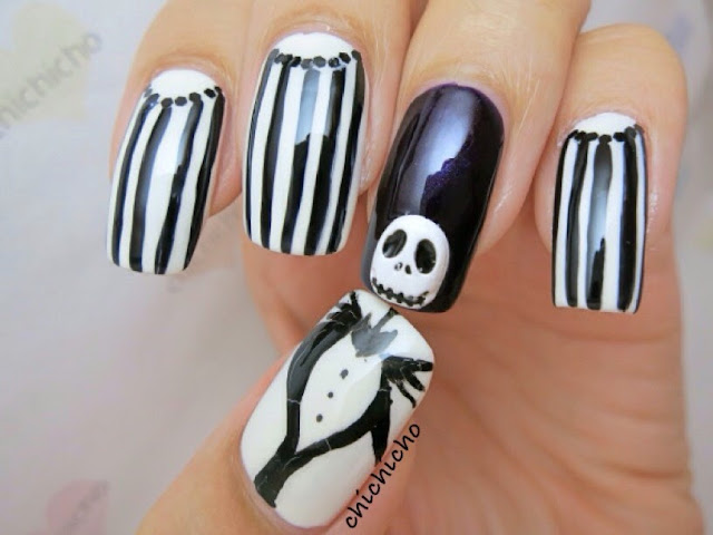Jack Halloween Nail Art