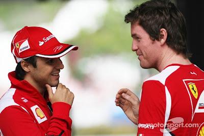 Фелипе Масса и Роб Смедли на Гран-при Китая 2012