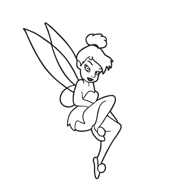 Tinkerbell Coloring Pages Tinkfanatic - coloring pages tinkerbell
