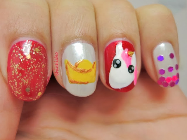 Unicorn + Chinese New Year - Horse Nail Art (Born Pretty Store Review)