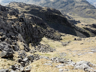 Our way off Seathwaite Fell ... a quiet route.
