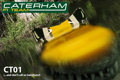крокодил Caterham CT01 в водоеме by @johnneese