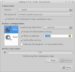 Screenshot of ntdisp-gtk3 running on Archlinux 64