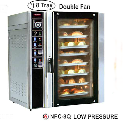 Alat Pemanggang Roti Konveksi Gas 8 Nampan (Convection Oven) : NFC-8Q