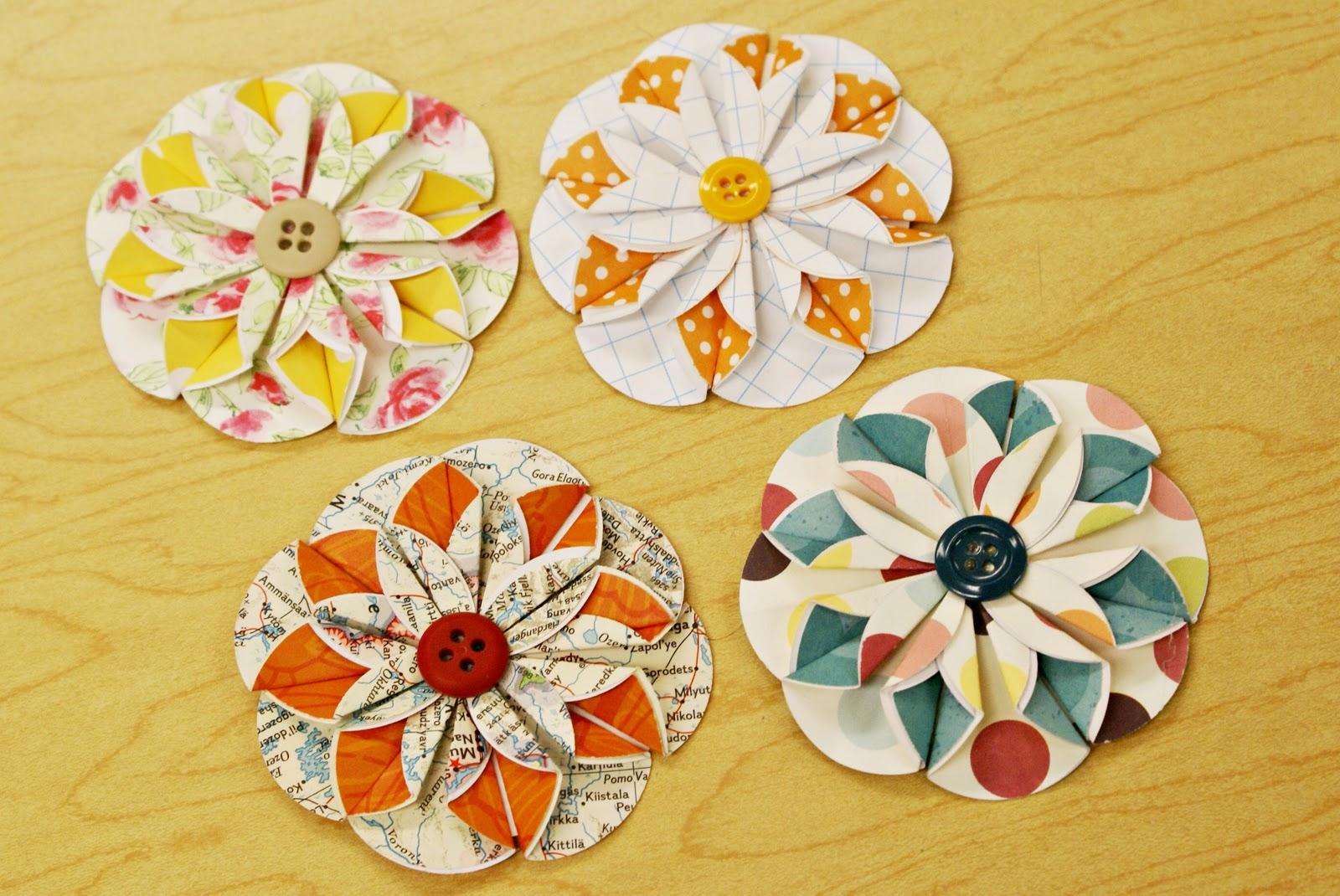 Оригинальные цветы из бумаги мастер класс