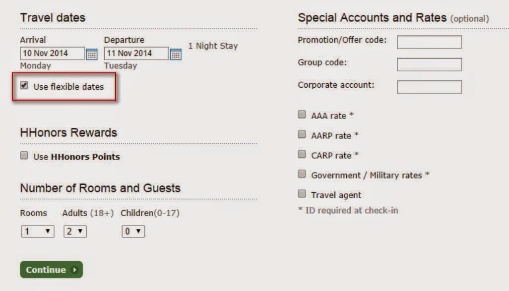 搜尋時揀「Use flexible dates」可一次過睇哂2星期內既房價;