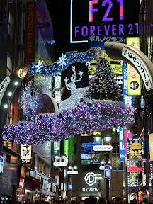 渋谷センター街のクリスマスイルミネーション2013