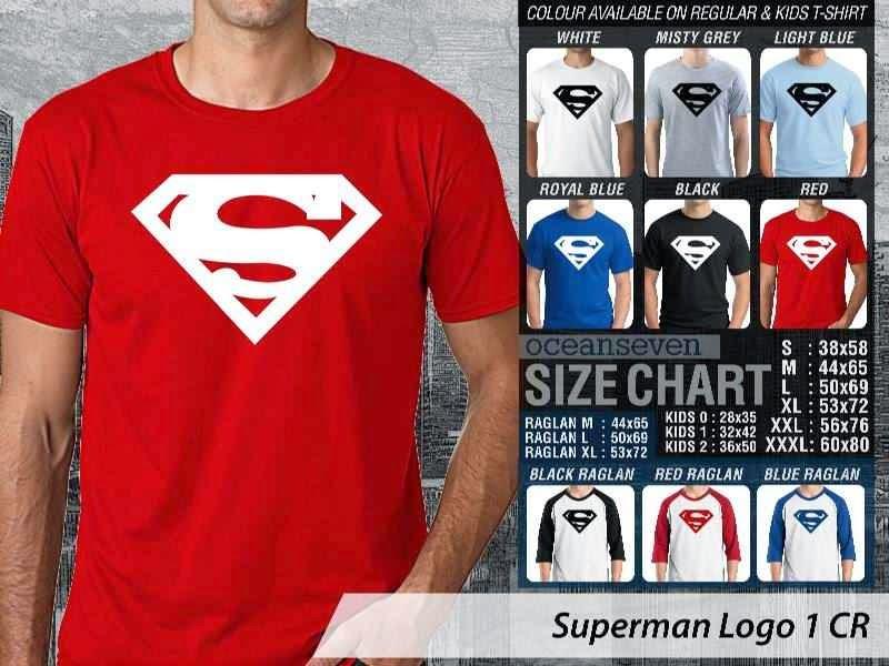Kaos Superman Hitam 9 Amazing Superhero distro ocean seven