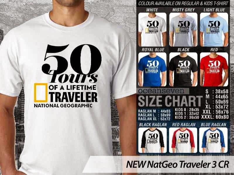Kaos National Geographic NEW Nat Geo Traveler 3 distro ocean seven