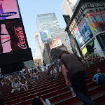 they have bleachers for times square watching