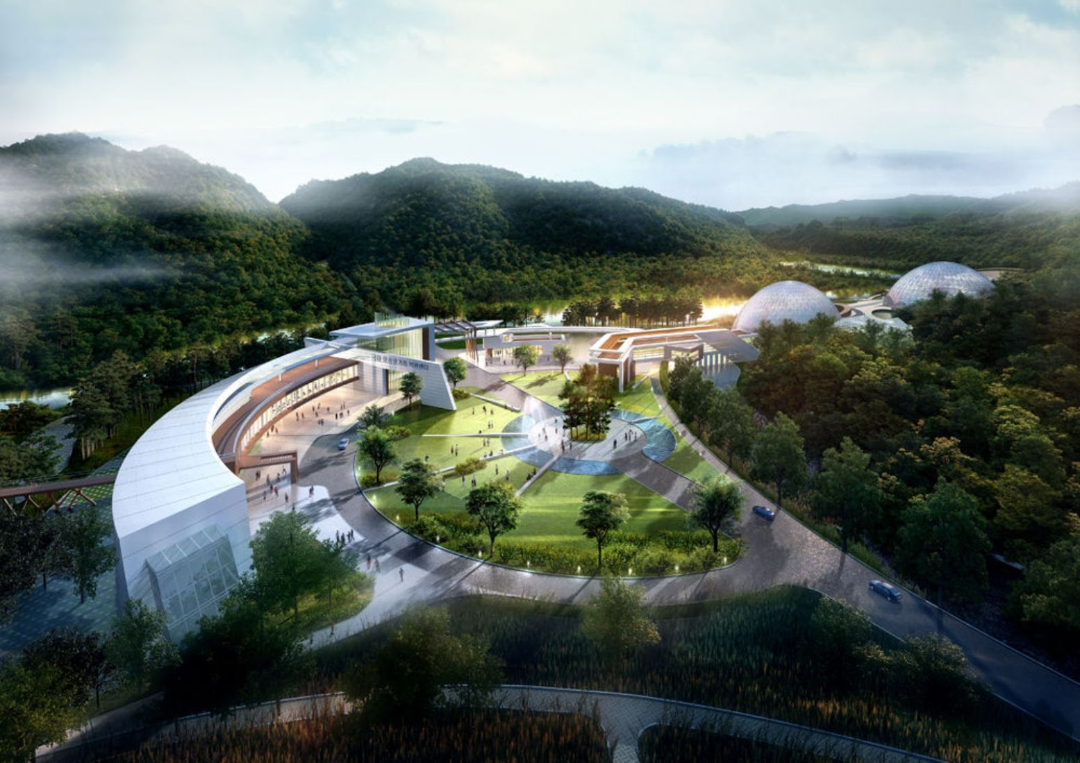 Yeongyang-gun, Nord Gyeongsang, Corea del Sud: [NATIONAL RESEARCH CENTER FOR ENDANGERED SPECIES BY SAMOO ARCHITECTS]