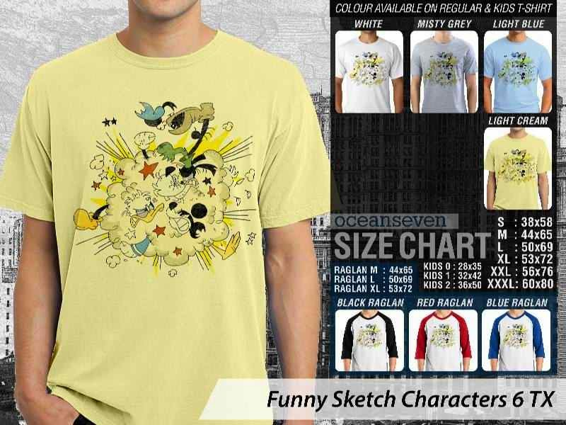 Kaos Kartun Lucu Funny Sketch Characters 6 mickey mouse distro ocean seven