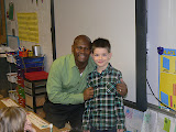 Mr. Huff, the principal at Jack's school, came into this classroom to sing him happy birthday.