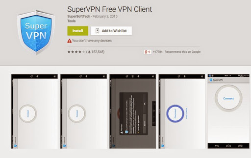 Super VPN - Free Android VPN Apps To Surf Anonymously