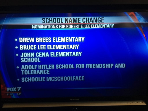 They asked kids in Austin for suggested new names for their elementary school...