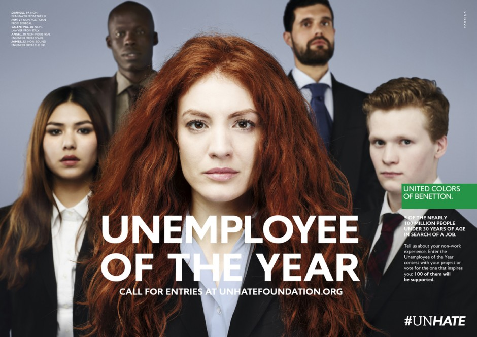 "United Colors of Benetton #UnHate ""UnEmployee Of The Year"""